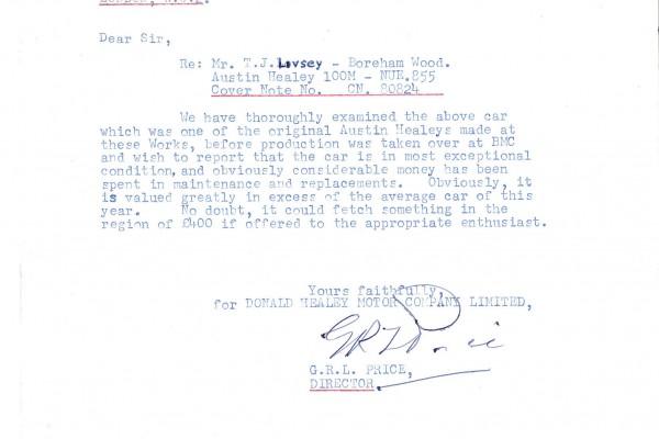 Healey letter